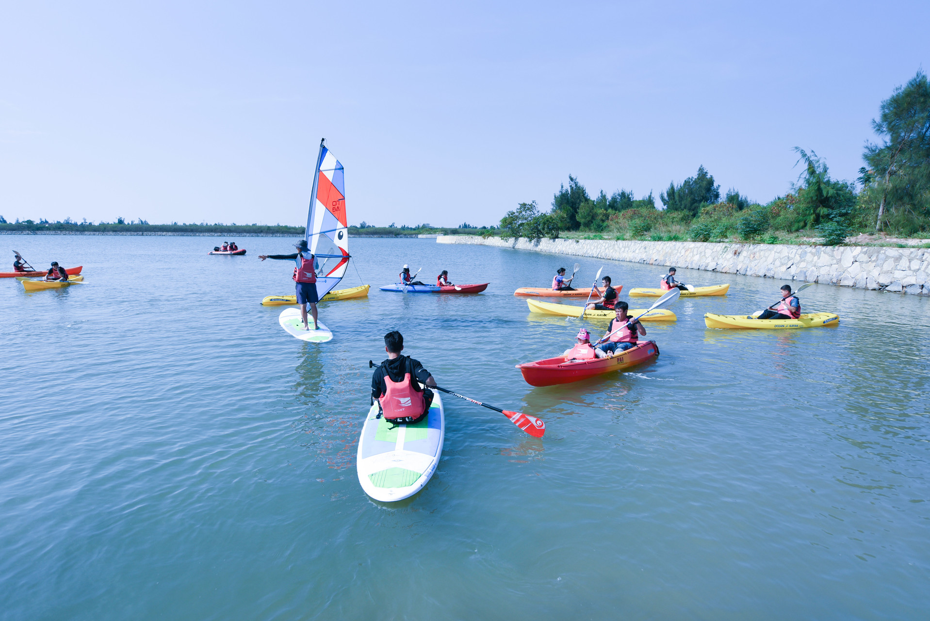 Waterpark Kinmen Location Basic Skills In Relay Actual Practice On Water Includes Sailboat And Kayak Basics Fun Games Etc